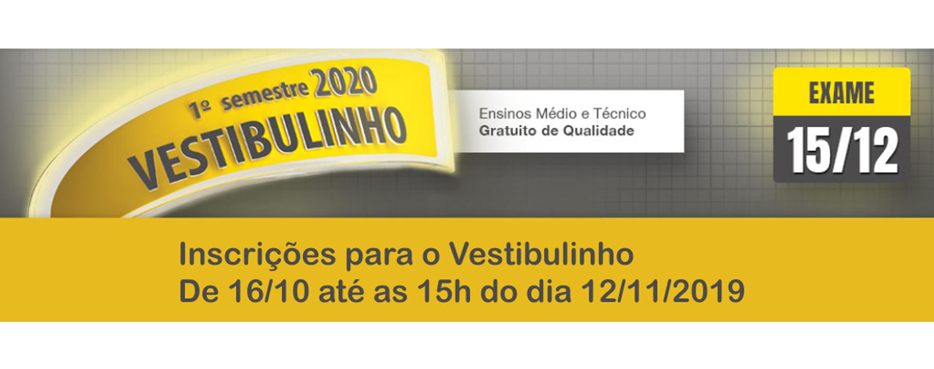 Vestibulinho 2020